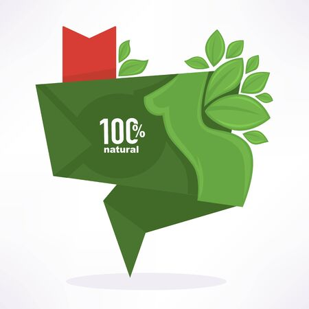 discount banner: fresh, organic and green beauty, vector discount banner template design