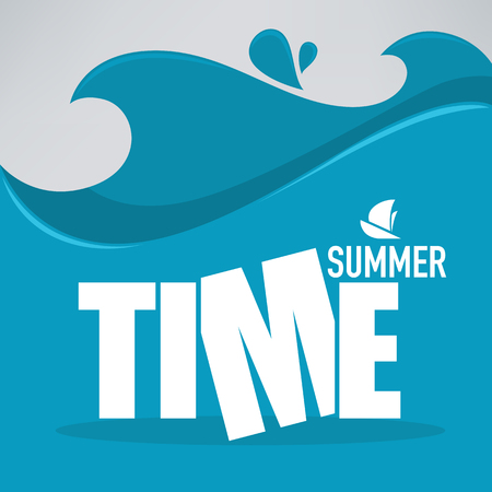 sea wave: sea wave, summer background Illustration