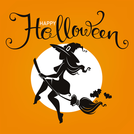 Halloween Party Invitation Or Greeting Card With Attractive ...