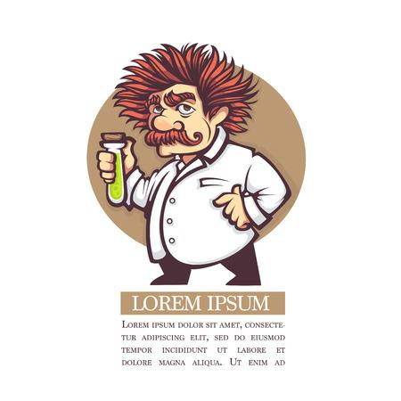 vector image of cartoon scientist