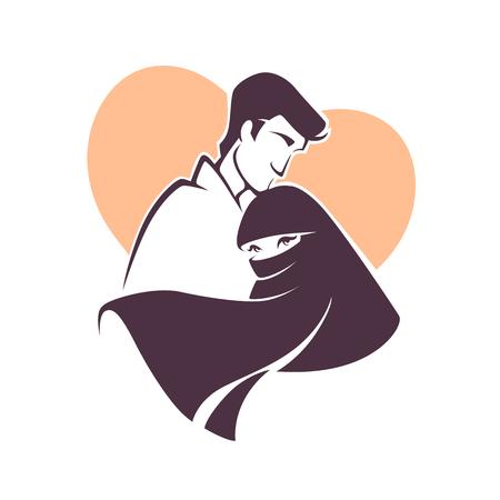 yemen: muslim love, couple, wedding, bride and groom