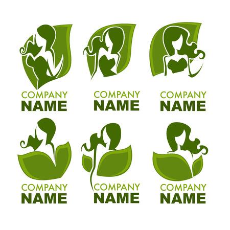 Frauen Gesundheit, Schönheit und Behandlung Symbole, Logos, Embleme und Symbole Standard-Bild - 67828886