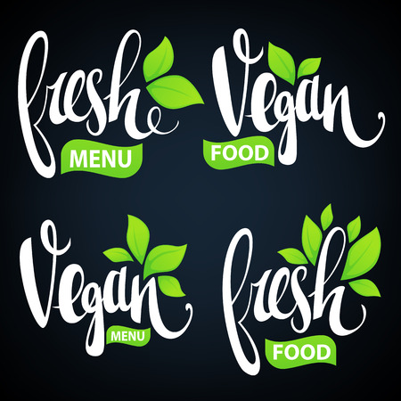 rise and shine: fresh and vegan lettering for your organic food and menu logo