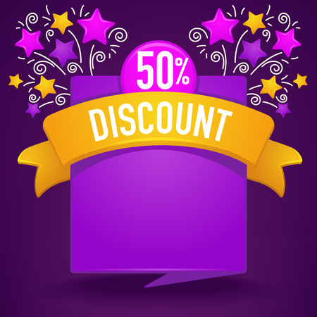 glossy and shine discount and sale banner Illustration