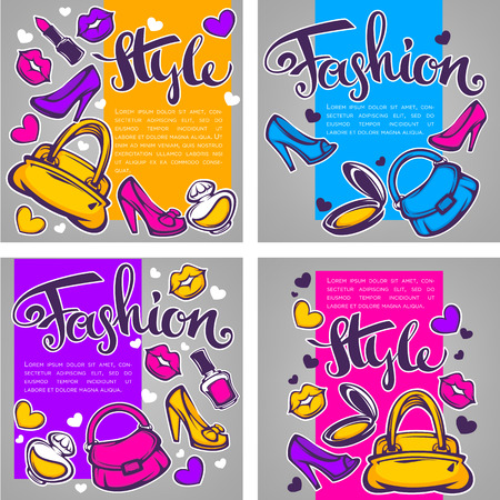 fashion collection: vector collection of fashion, style and  beauty template design