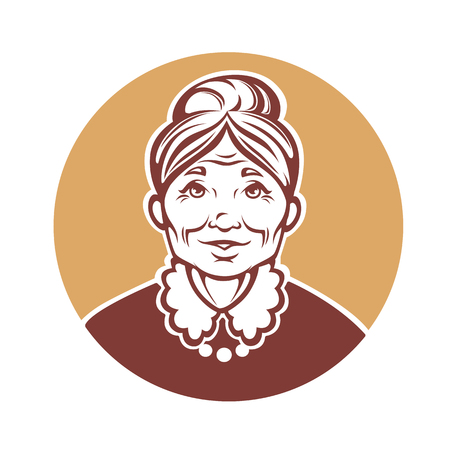 Vektor Porträt der schönen Großmutter