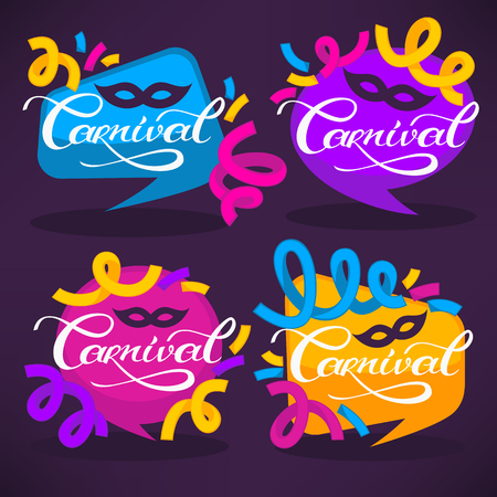 bunner: vector collection of bright carnival banners and invitations