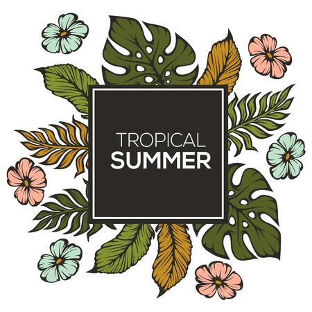 palm: tropical summer Illustration