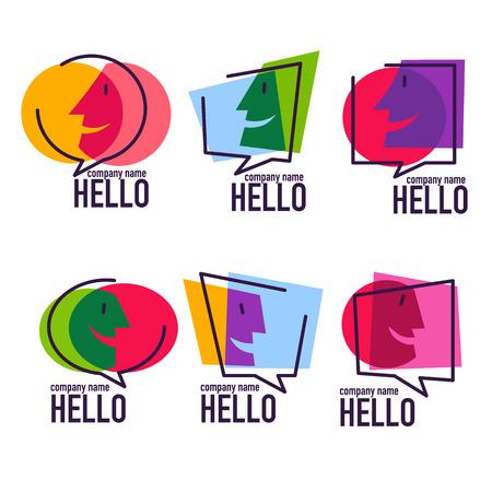 Vector collectie van praten, praten, chatten en communicatie logo, pictogrammen, tekens en symbolen