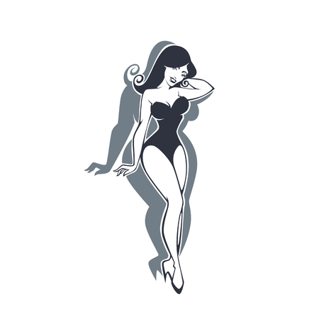 better: Be Fit, Change Your Body, Vector Pinup Woman