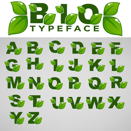 Bio Typeface For Your Eco And Organic Lettering Compositions