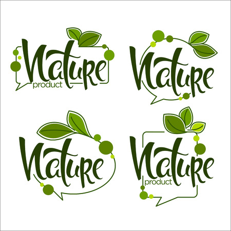 Nature Handdrawn Lettering and Doodle Organic Frames