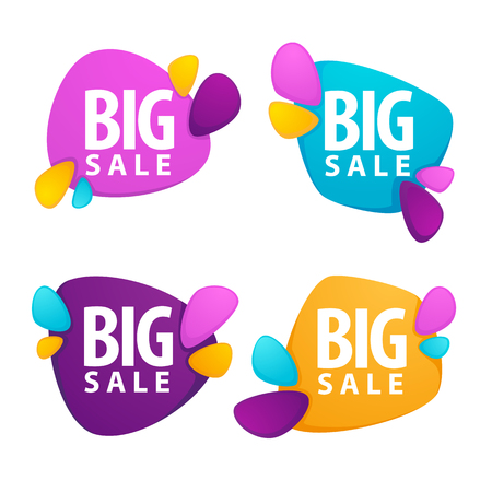 best buy: big sale, vector collection of bright discount bubble tags, banners and stickers Illustration