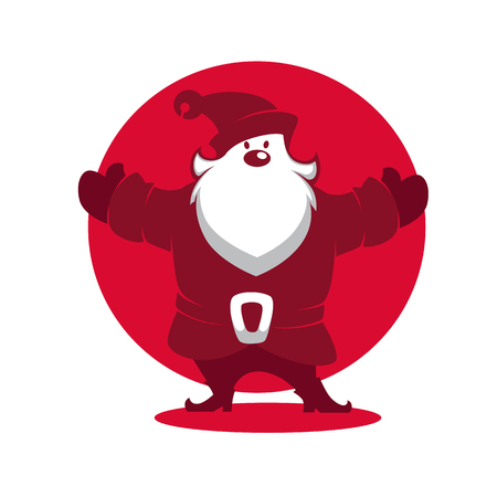 Santa Claus  Vector silhouette for greeting Christmas card.