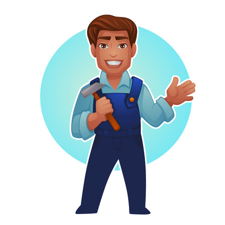 Cartoon worker, vector professional man for your mascot Reklamní fotografie - 94663592