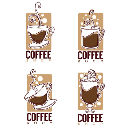 Coffee shop icon collection Illustration