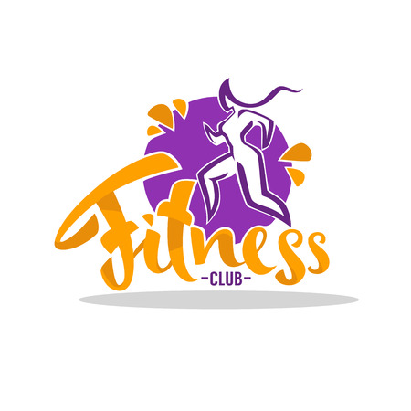 Fitness Club icon design Illustration
