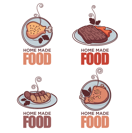 Home made food template design collection