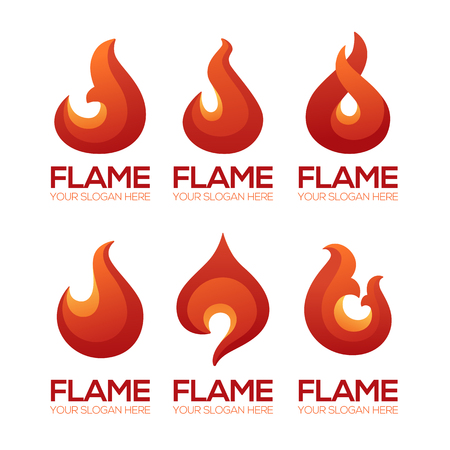 Stylized fire flame emblems for your logo design. 일러스트