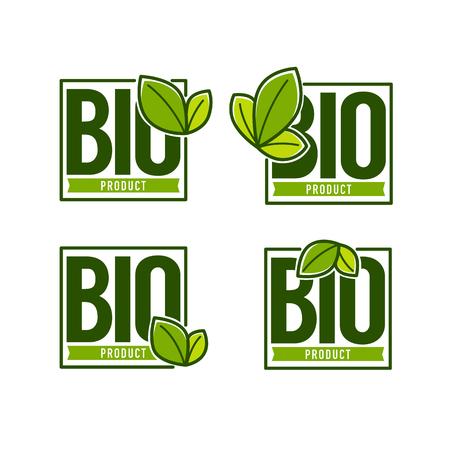 Bio Product organic leaves emblems