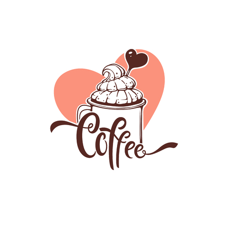 Sweet Coffee emblem template design