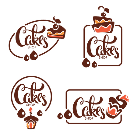 bakery, pastry vector logo templates collection