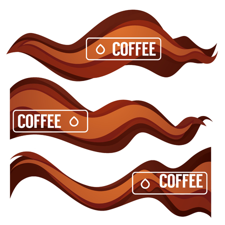 Paper Cut Coffee Flow Vector Design Element For Your Modern Labels, Emblems and Flyers Ilustração