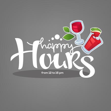 ¡tómate tu bebida de verano y disfruta de nuestra happy hour! vector de fondo comercial