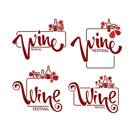 Red Wine Festival, young wine  , emblems, labels