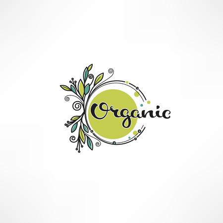 Organic leaves and plants element Illustration