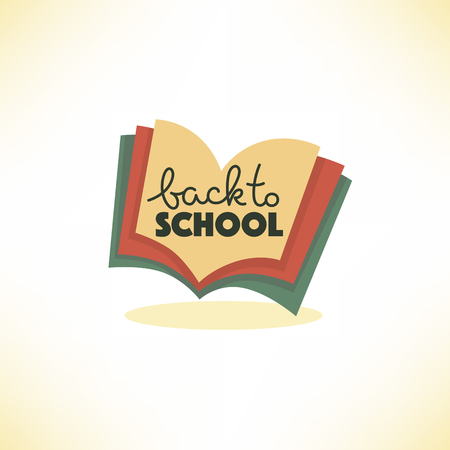 Back to school with image of open book