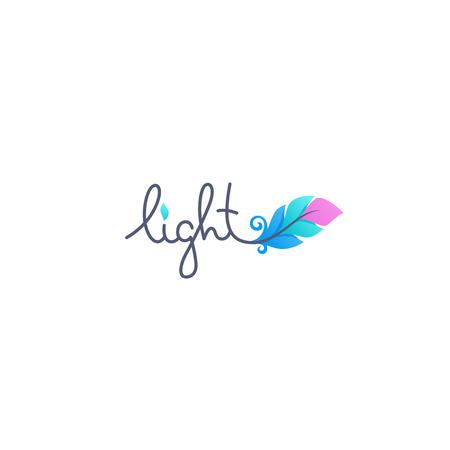 Lumière avec image de plume dégradée