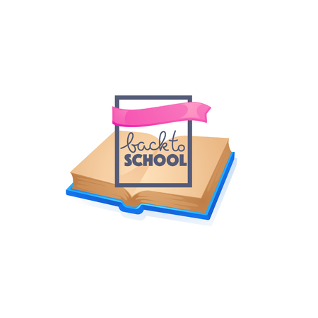 Back to school with image of open book background