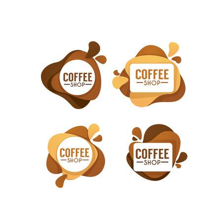 Café de symboles de boissons chaudes et sucrées