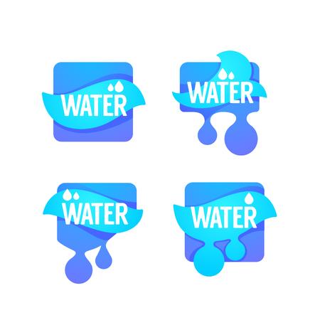 Natural spring water 向量圖像