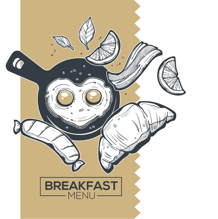 Breakfast Menu For Your Morning Menu Illustration