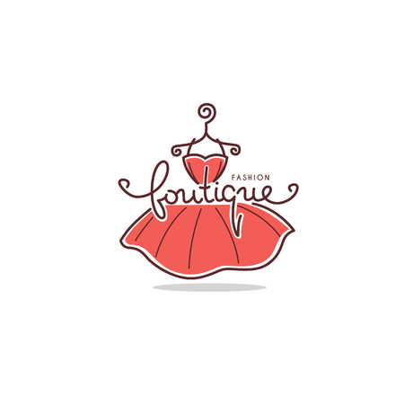 Fashion boutique and store label Illustration