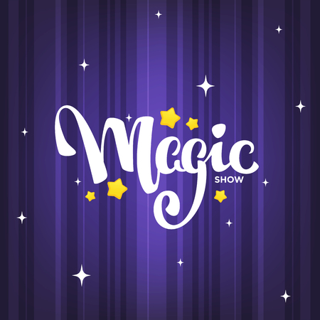 Magic Show, letteing composition on magic background for your logo, poster, invitation 免版税图像 - 116940474