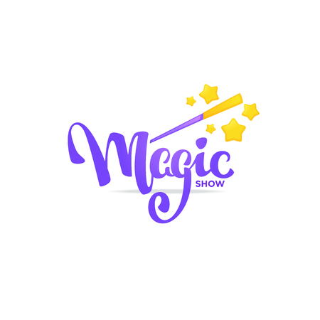 Magic Show, letteing composition for your logo, emblem, invitation Vettoriali