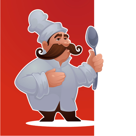 cartoon man chef, vector proffessional character for your mascot or game Stock Vector - 131809358