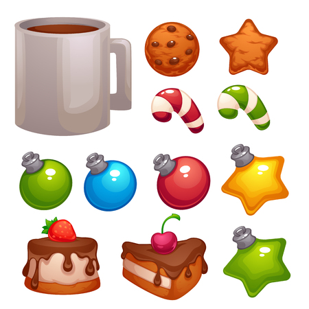 Christmas Food and Decoratin , vector asset for your mobile game or design