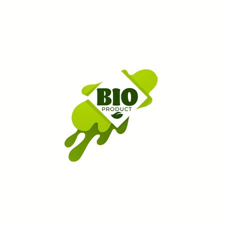 Bio Product,  organic leaves emblems, stickers,  frames and logo