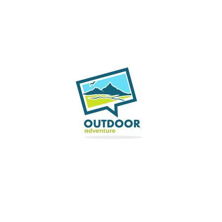 Outdoor Adventure, Rural mountain landscape for your logo, label, emblem