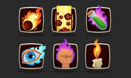 icono de habilidades mágicas para tu juego de rol móvil