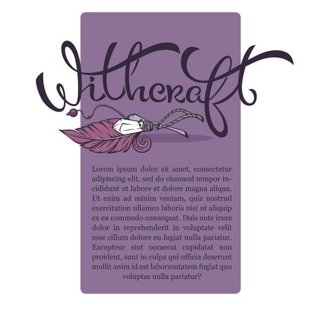 witchcraft and wizardry, artistic banner template for your text with lettering composition