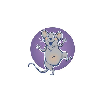 happy rat, chinese symbol of new year 向量圖像