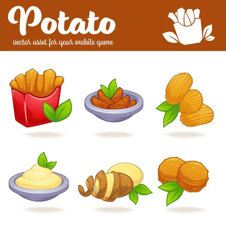 Potato vector cartoon asset for your app or mobile game Ilustração