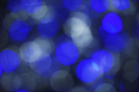 Defocused abstract blue white christmas background. photo