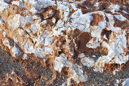 overhang: Natural colorful stone. Can be used as background.