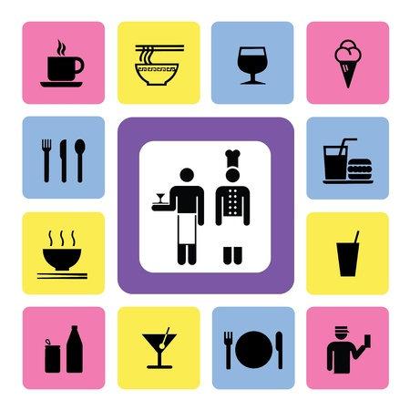 food and drink Icon for use Vector